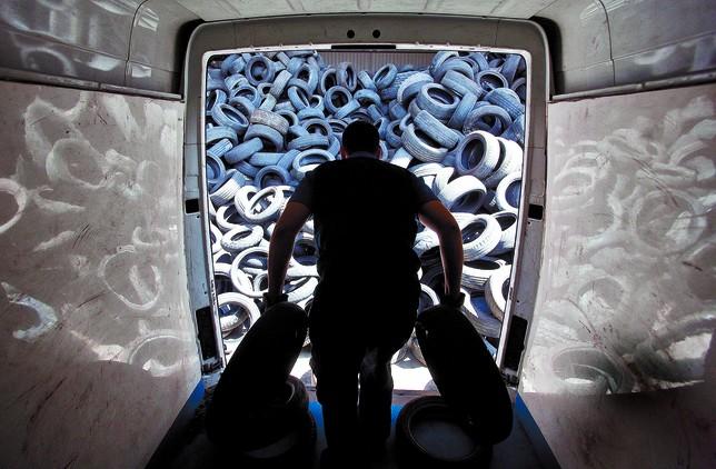 El reciclaje de neumáticos aumenta un 10% cada año de crisis